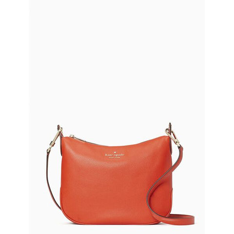 Kate Spade Rosie Pebbled Leather Crossbody Bag In Geranium