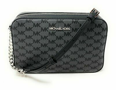 Michael Kors Large EW Crossbody In Black New Monogram