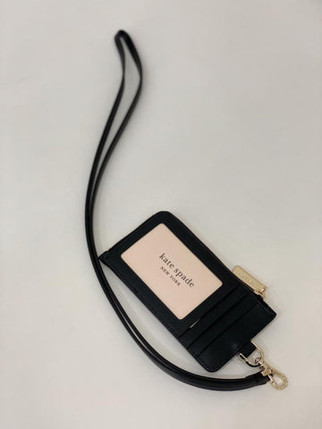 Kate Spade Lanyard Card Case In Black