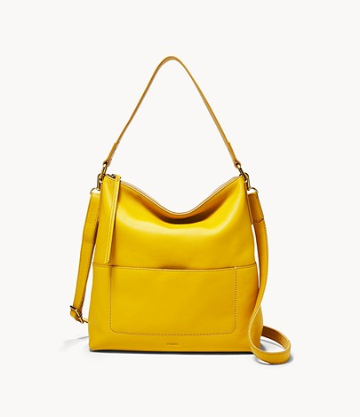 Fossil Amelia Hobo In Golden Yellow