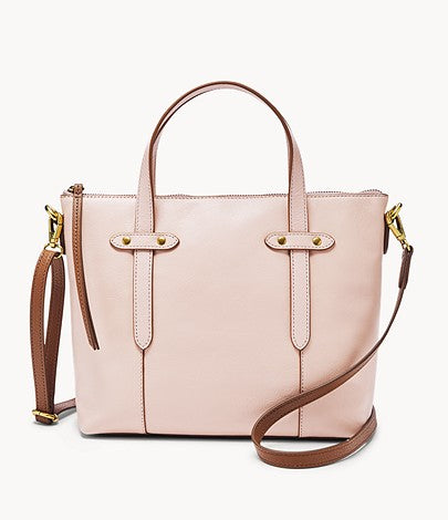 Fossil Felicity Satchel In Dusty Rose