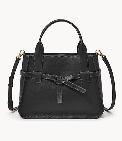 Fossil Willow Satchel In Black