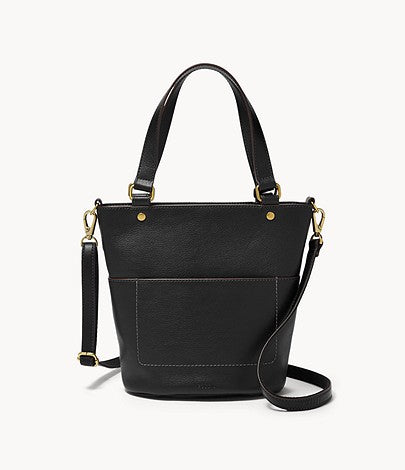 Fossil Amelia Small Bucket Bag In Black