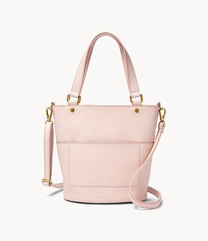 Fossil Amelia Small Bucket Bag In Pink