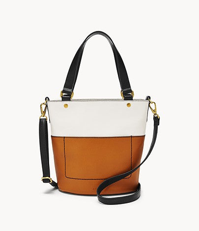 Fossil Amelia Small Bucket Bag In Neutral Multicolor