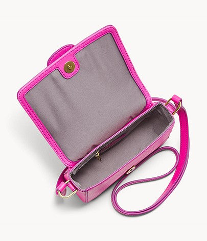 Fossil Mandy Small Crossbody In Fuchsia