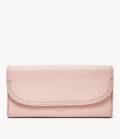 Fossil Cleo Wallet In Dusty Rose
