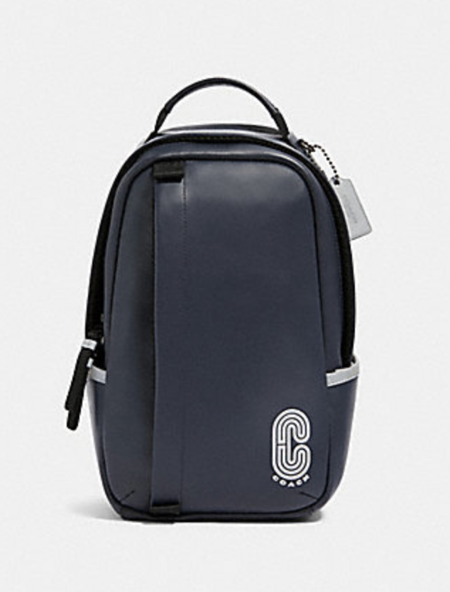 Coach Men's Edge Sling Pack In Midnight With Reflective Detail
