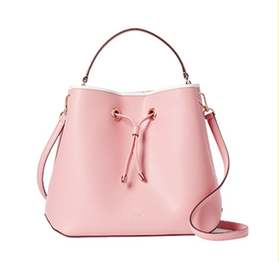 Kate Spade Large Bucket Bag Eva In Bright Carnation
