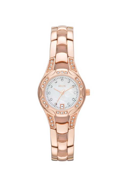 Women Charlotte Quartz Stainless Steel Dress Watch, Color Rose Gold-Tone
