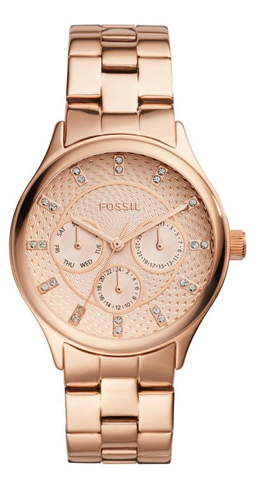 Fossil Modern Sophisticate Multifunction Rose Gold-Tone Stainless Steel Watch BQ1561