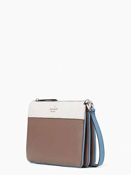 Kate Spade Jackson Triple Gusset Crossbody In Baltic Sea Multi