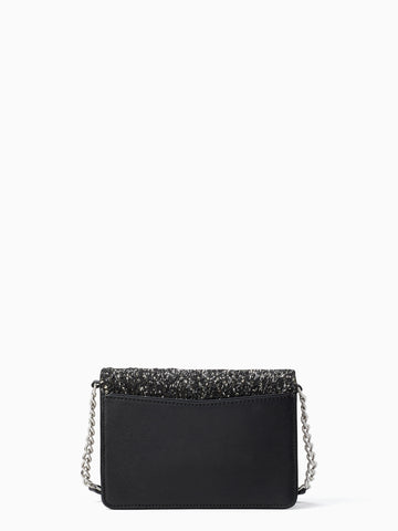 Kate Spade Neve Tinsel Convertible Flap Crossbody In Black