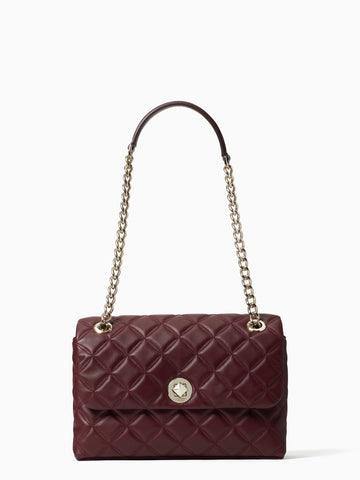 Kate Spade Natalia Medium Flap Shoulder Bag In Cherrywood