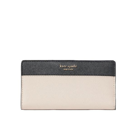 Kate Spade Large Slim Bifold Wallet Warm Beige