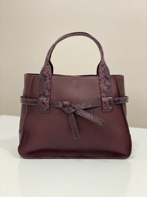 Fossil Willow Satchel In Fig