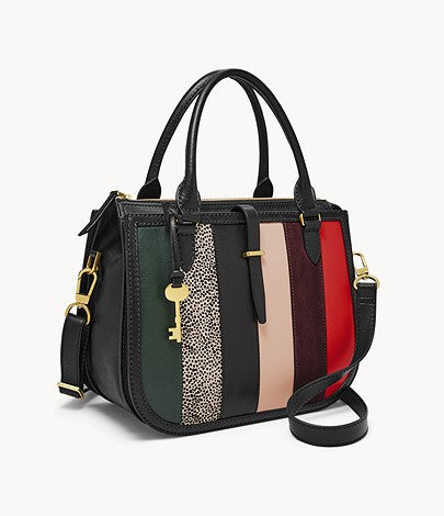 Fossil Ryder Satchel In Black Patch