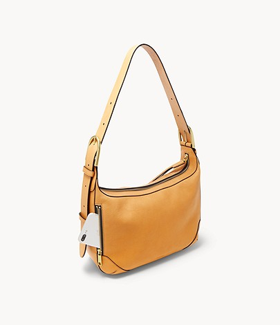 Fossil Hannah Hobo In Amber Gold
