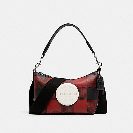 Coach Dempsey Shoulder Bag With Buffalo Plaid Print