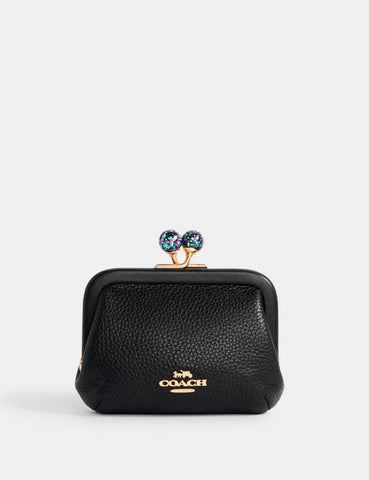 Coach Nora Kisslock Card Case In Black