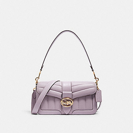 Coach Georgie Shoulder Bag With Quilting In Soft Lilac