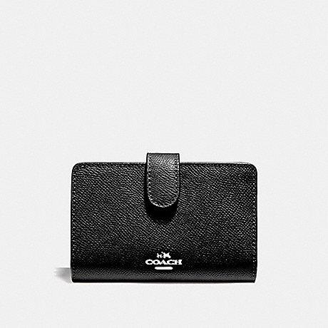 Coach Medium Zip Corner in Leather Black