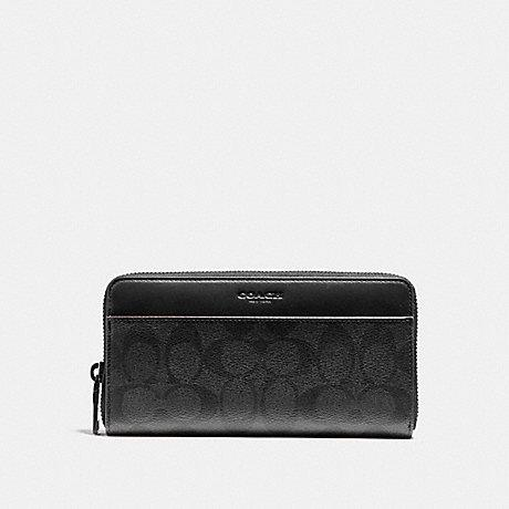 Coach Accordion Wallet in Signature Black/Oxblood