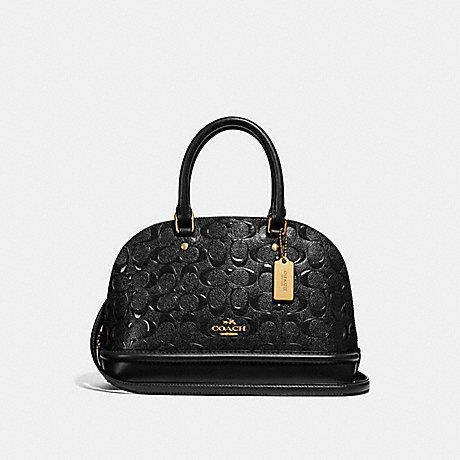 Coach Mini Sierra in Embossed Patent Leather Black
