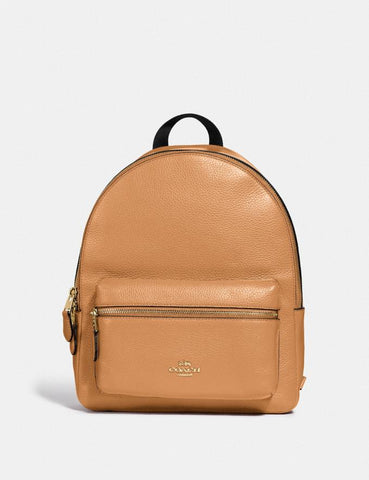 Coach Medium Charlie Backpack In Light Saddle