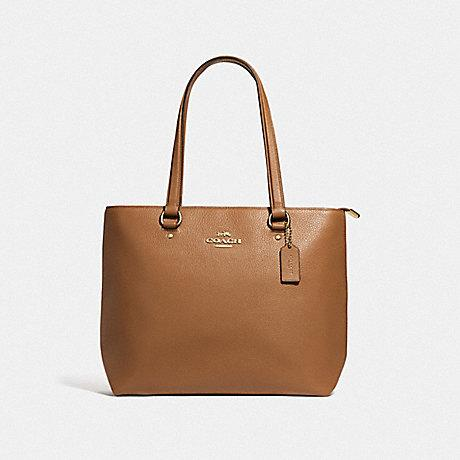 Coach Bay Tote in Light Saddle