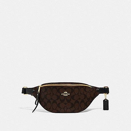 Coach Belt Bag in Signature Dark Brown