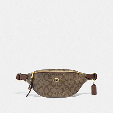 Coach Belt Bag in Signature Khaki Saddle
