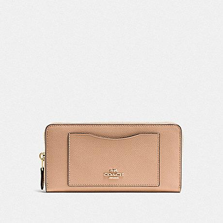 Coach Accordion Zip Wallet in Beechwood