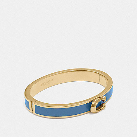 Coach Signature Push Hinged Bangle Indigo Gold