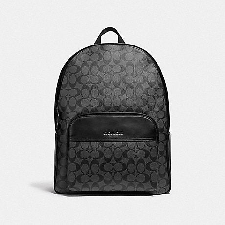 Coach Houston Backpack in Signature Black