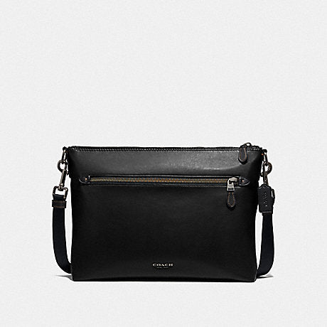 Coach Graham Soft Messenger in Leather Black