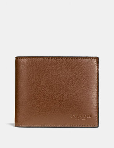 Coach 3-in-1 Men Wallet In Dark Saddle