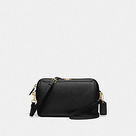 Coach Bennett Crossbody in Leather Black Gold Hardware