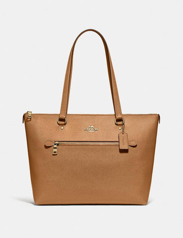 Coach Gallery Tote In Light Saddle