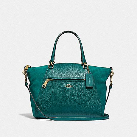 Coach Prairie Leather Suede Viridian