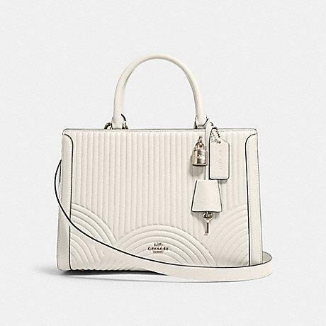 Coach Zoe Carryall in Quilted Chalk