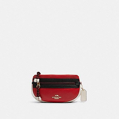Coach Vale Belt Bag in Colorblock Bright Red