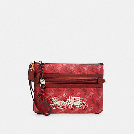 Coach Gallery Pouch in Red