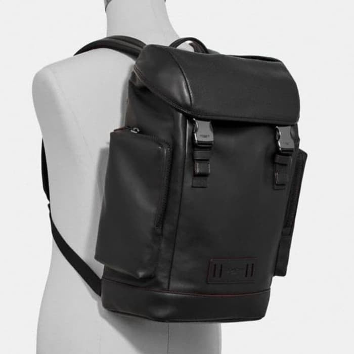 Coach Ranger Backpack in Leather Black