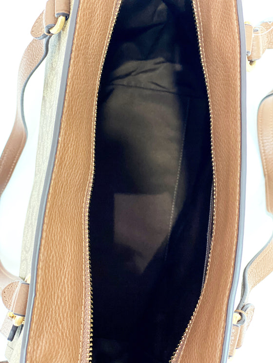 Coach Marlon Tote In Signature Khaki Saddle