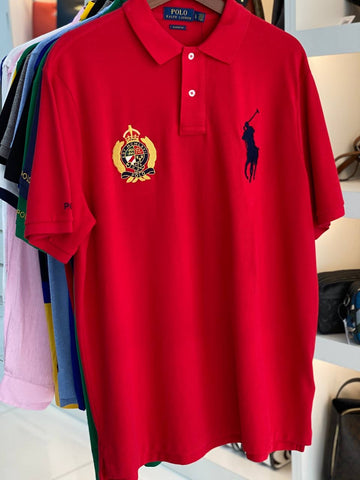 Polo Big Pony Classic Fit Yacht Logo In Red