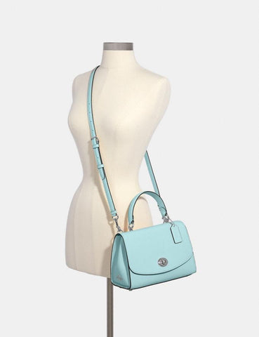 Coach Tilly Top Handle Satchel In Light Blue Seafoam
