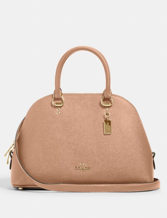 Coach Katy Satchel In Taupe