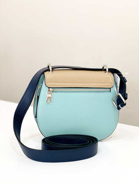 Coach Remi Saddle Bag In Colorblock Taupe