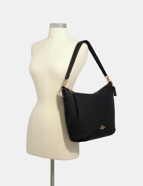 Coach Skylar Hobo Large In Leather Black